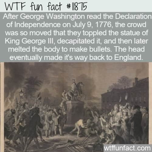 WTF Fun Fact - King George Beheaded And Melted