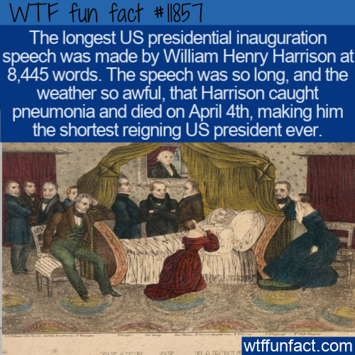 WTF Fun Fact - Long Speech Short Reign