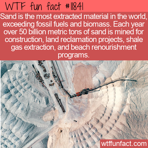 WTF Fun Fact - Most Extracted Material In The World