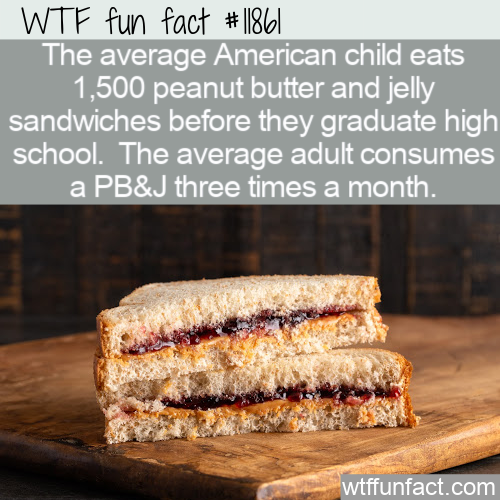 WTF Fun Fact - PB&J Consumption In America