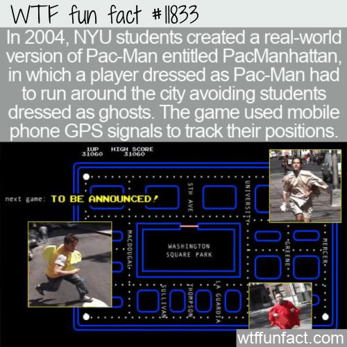 WTF Fun Fact - PacManhattan