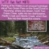 WTF Fun Fact – Parting Of The Waters at Two Ocean Pass