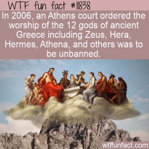 WTF Fun Fact - The Ancient Greek Gods Unbanned
