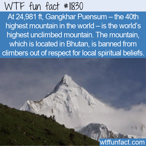 WTF Fun Fact - World's Highest Unclimbed Mountain