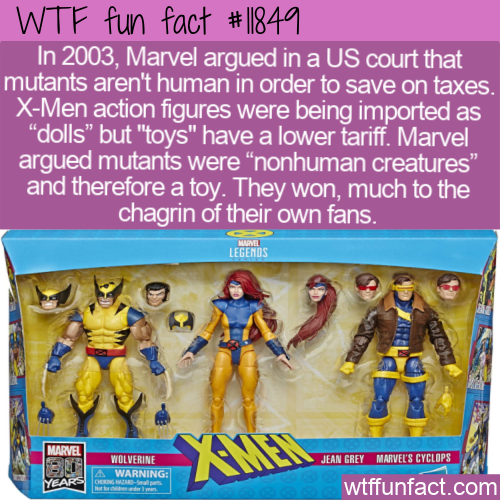 WTF Fun Fact - X-Men Are Not Dolls