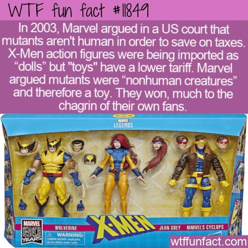 WTF Fun Fact - X-Men Are Not Dolls