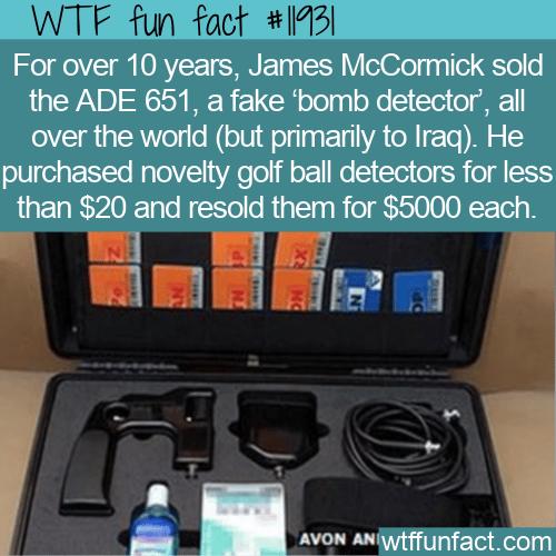 WTF Fun Fact - ADE 651 Fake Bomb Detectors