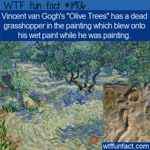 WTF Fun Fact - Dead Grasshopper In Famous Painting