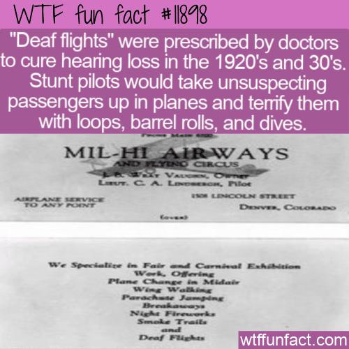 WTF Fun Fact - Deaf Flights