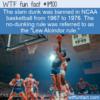 WTF Fun Fact – Dunking Ban