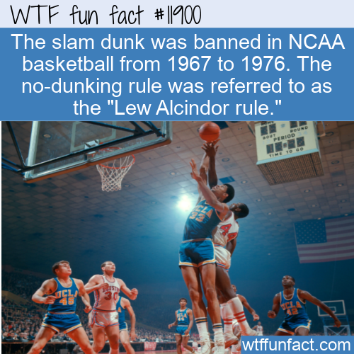 WTF Fun Fact - Dunking Ban