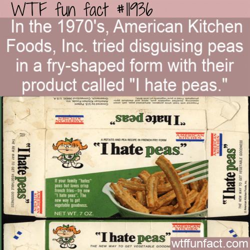 WTF Fun Fact - I Hate Peas
