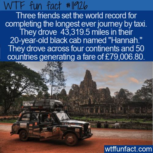 WTF Fun Fact - Longest Taxi Journey