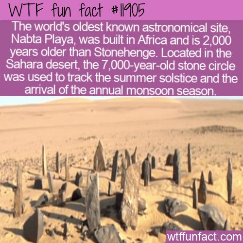 WTF Fun Fact - Nabta Playa