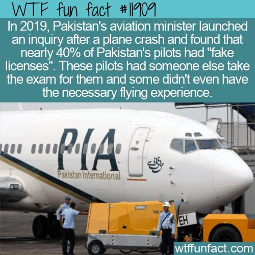 WTF Fun Fact - Pakistan's Fake Pilots
