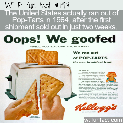 WTF Fun Fact - Pop-Tarts All Sold Out