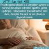 WTF Fun Fact – Psychogenic Death