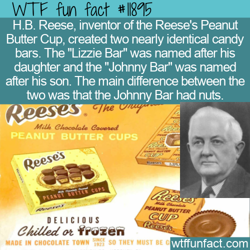 WTF Fun Fact - Reese's Lizzie & Johnny Bar