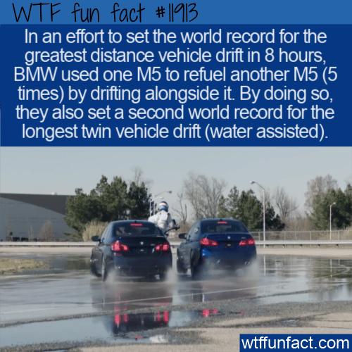WTF Fun Fact - Twin Vehicle Drift Record