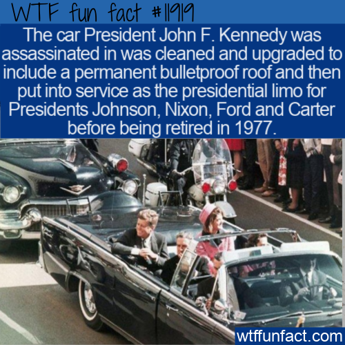 WTF Fun Fact - What Happened To JFK's Presidential Limo_
