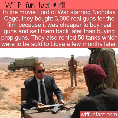 WTF Fun Fact - What's Real In Lord Of War_