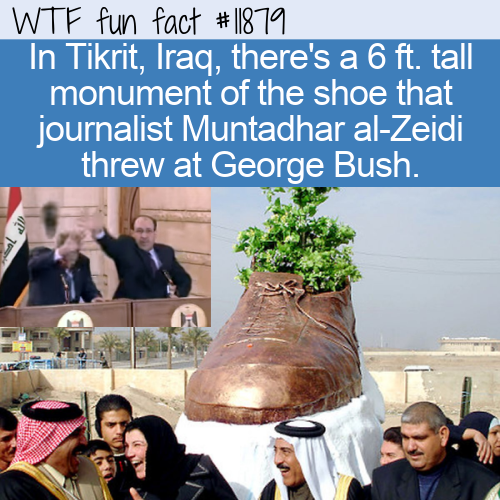 WTF Fun Fact - al-Zeidi's Shoe Monument