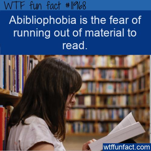 WTF Fun Fact - Abibliophobia Meaning