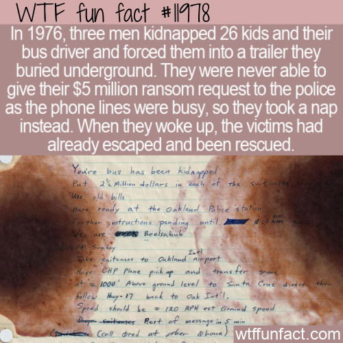 WTF Fun Fact - Chowchilla Kidnapping Fail