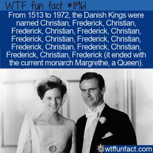 WTF Fun Fact - Christian, Frederick, Christian, Frederick