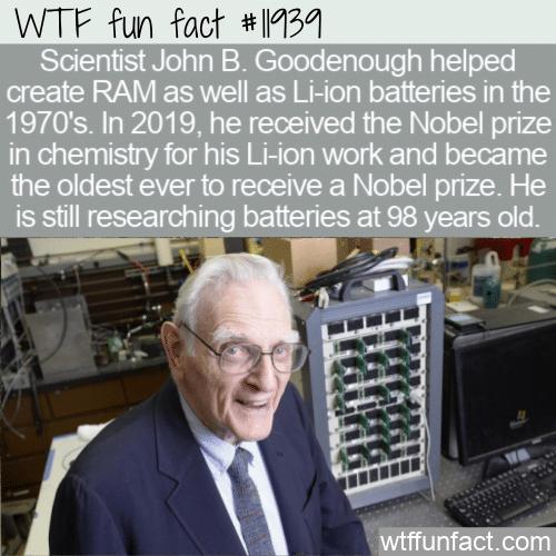 WTF Fun Fact - John B. Goodenough