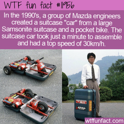 WTF Fun Fact - Mazda Suitcase Car