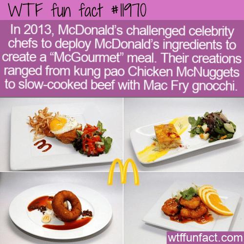 WTF Fun Fact - McGourmet Meals