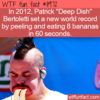 WTF Fun Fact –  Most Bananas Peeled And Consumed In 60 Seconds