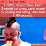 WTF Fun Fact -  Most Bananas Peeled And Consumed In 60 Seconds