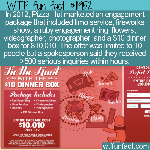 WTF Fun Fact - Pizza Hut's $10 Dinner Box Proposal Package