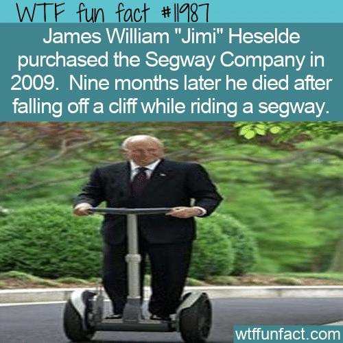 WTF Fun Fact - Segway Owner Dies Riding Segway