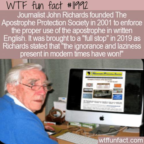 WTF Fun Fact - The Apostrophe Protection Society