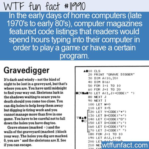 WTF Fun Fact - Type-In Programs
