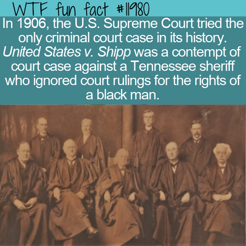 WTF Fun Fact - U.S. Supreme Court's Only Criminal Case