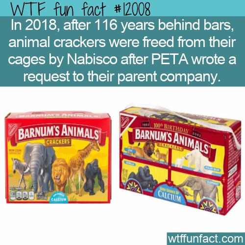 WTF Fun Fact - Animal Crackers Freed
