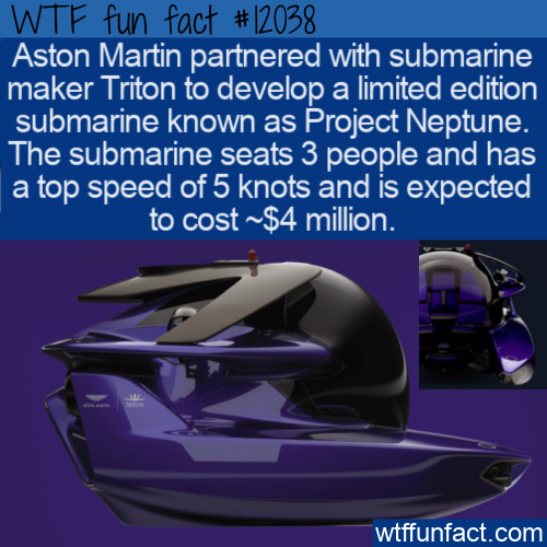 WTF Fun Fact - Aston Martin Submarine