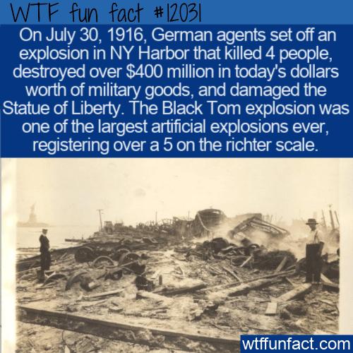 WTF Fun Fact - Black Tom Explosion