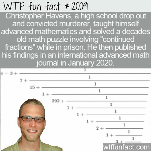 WTF Fun Fact - Christopher Havens Math Murderer