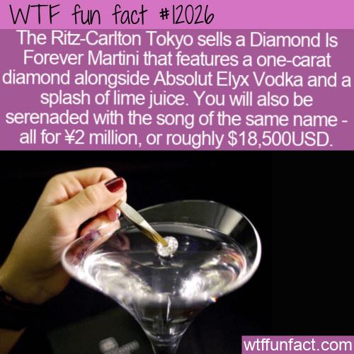 WTF Fun Fact - Diamond Is Forever Martini