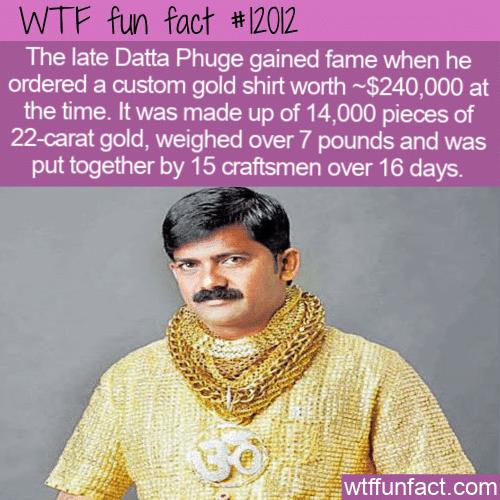 WTF Fun Fact - Gold Shirt Worth A Quarter Of A Million Dollars