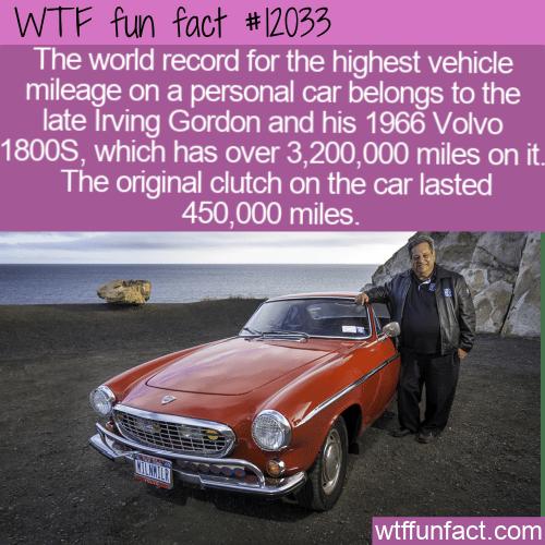 WTF Fun Fact - Irving Gordon's Reliable 1966 Volvo