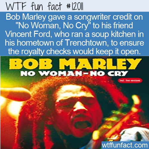 WTF Fun Fact - Marley's Royalties Going To Soup Kitchen
