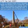 WTF Fun Fact – NYC's 3700 Year-Old Obelisk
