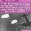 WTF Fun Fact – Shouting Bomb
