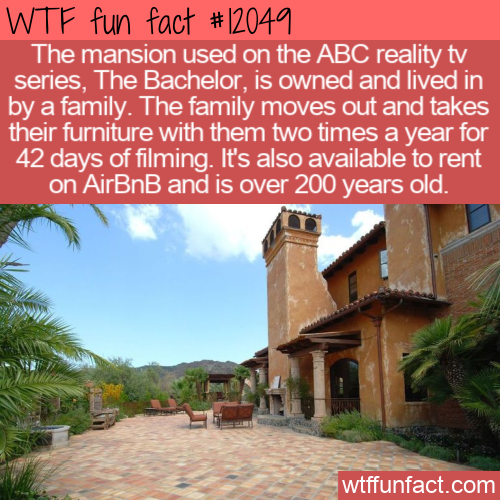 WTF Fun Fact - The Bachelor(ette) Mansion